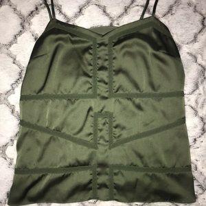 Beautiful green silk tank top!